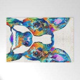 Colorful Boston Terrier Dog Pop Art - Sharon Cummings Welcome Mat