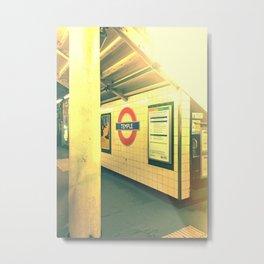 Temple station London 8 Metal Print