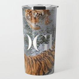two tiger in water Travel Mug