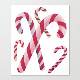 Christmas Candy Cane Sweet Children Gift Canvas Print