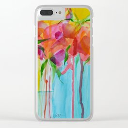 Running Roses Clear iPhone Case