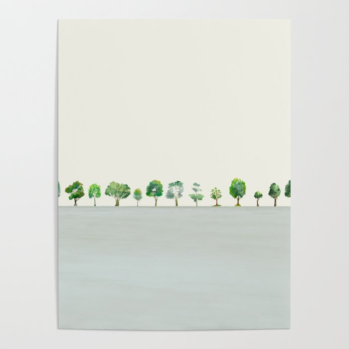 A Row Of Trees Poster