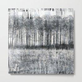Black Winter Abstract Metal Print