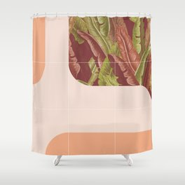 Mid-Century Tropical Way #society6 #tropical Shower Curtain