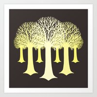 gondor Art Prints featuring electricitrees by freshinkstain