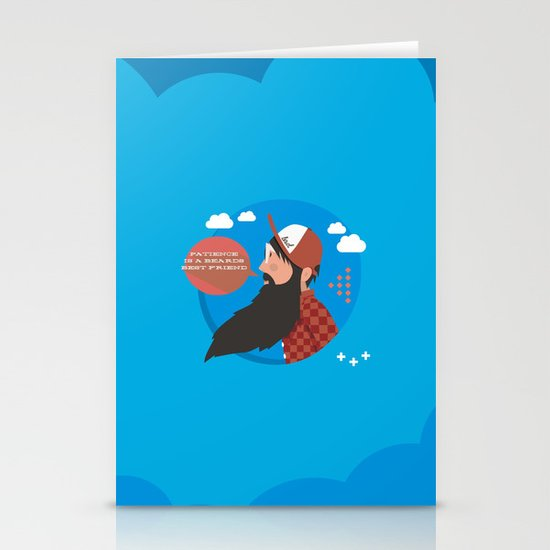 Patience is a beards best friend Stationery Cards