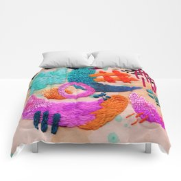 abstract embroidery Comforters