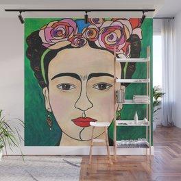 Frida Khalo Portrait Wall Mural