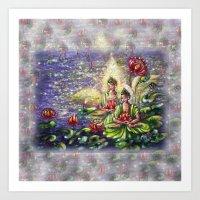 buddha Art Prints featuring Buddha  by Harsh Malik
