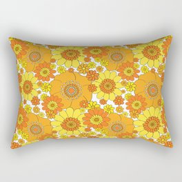 Flower bunch orange and yellow Rectangular Pillow