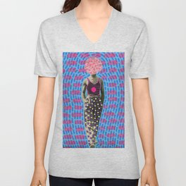 Walking Dot Unisex V-Neck