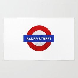 Sherlock Baker Street Print Rug