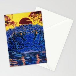 Swamp Gator Florida Mural Stationery Cards