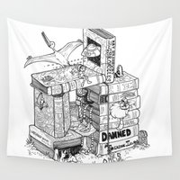chuck Wall Tapestries featuring Worlds within Worlds by KadetKat