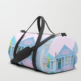 San Francisco Painted Lady Victorian House Duffle Bag