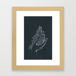 Fire starter -inverted color Framed Art Print