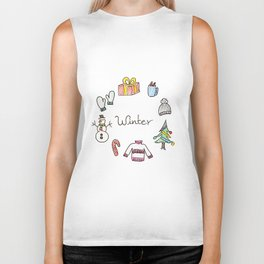 winter feels Biker Tank