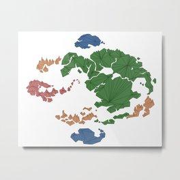 Avatar the Last Airbender: Map (Fill) Metal Print