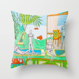 Places after work Throw Pillow