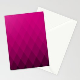 Pink ombre triangles Stationery Cards