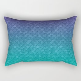 Ariel Mermaid Inspired Purple & Green Rectangular Pillow