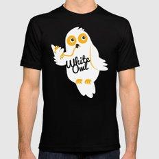 White Owl Mens Fitted Tee MEDIUM Black