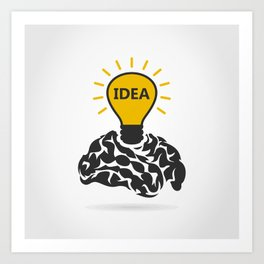 Idea of a brain Art Print
