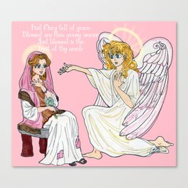 The Anunciation anime style Canvas Print