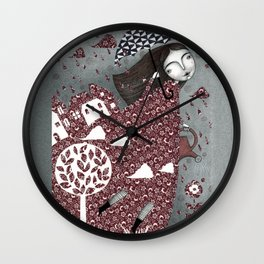 Clouds in July, Raindrop Sky Wall Clock