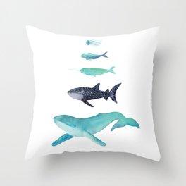 Ocean collection: Deep under the sea Throw Pillow
