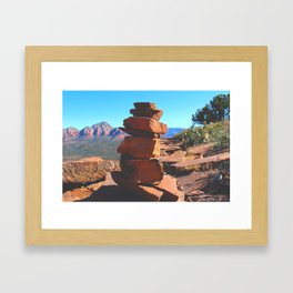 Creating Balance Framed Art Print