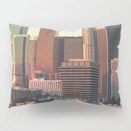 Los Angeles skyline at dawn Pillow Sham