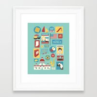 parks and recreation Framed Art Prints featuring Parks and Recreation by Kitkat Lastimosa