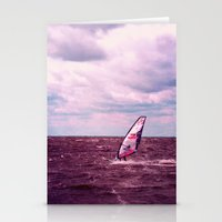 surfer Stationery Cards featuring surfer by Claudia Drossert