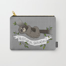 Slothful Saturday Carry-All Pouch