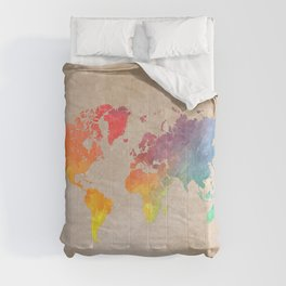 World Map Maps #map #maps #world Comforters