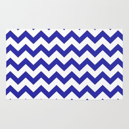 Chevron (Navy & White Pattern) Rug