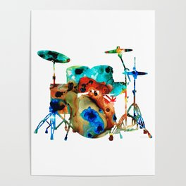 The Drums - Music Art By Sharon Cummings Poster