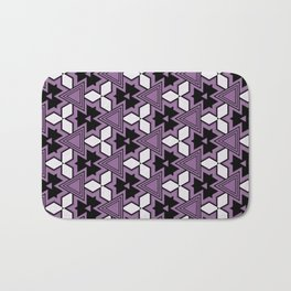 Decorative Bold Purple Geo Pattern Design Bath Mat
