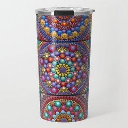 Mandala world- dot art Travel Mug