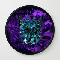 transformers Wall Clocks featuring Decepticons Abstractness - Transformers by DesignLawrence