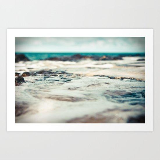 Kauai Sea Foam Art Print