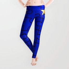 European Union Flag Jigsaw Leggings