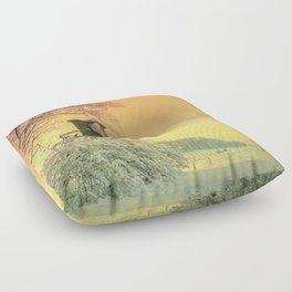 Winter romantic Floor Pillow