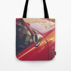 Fine art print, red supercar details, high quality photo, deep of field, macro, triumph spitfire Tote Bag