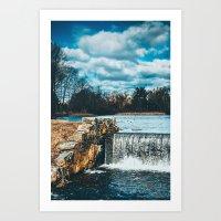 Waterfall afternoon Art Print