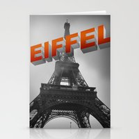 eiffel Stationery Cards featuring Eiffel by Vin Zzep