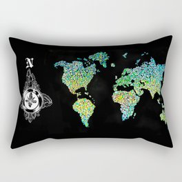 Crystal map Rectangular Pillow