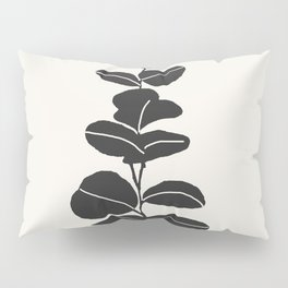 Minimal Eucalyptus Line Art Pillow Sham