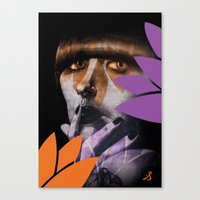 "karen hallion Canvas Prints featuring ""Karen O"" by Samy Vincent"